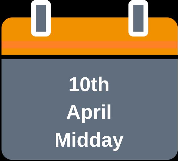 10th April midday